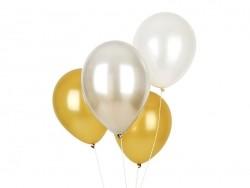 10 Luftballons mit Metallglanz