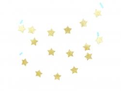 Guirlande à étoiles pailletées dorées