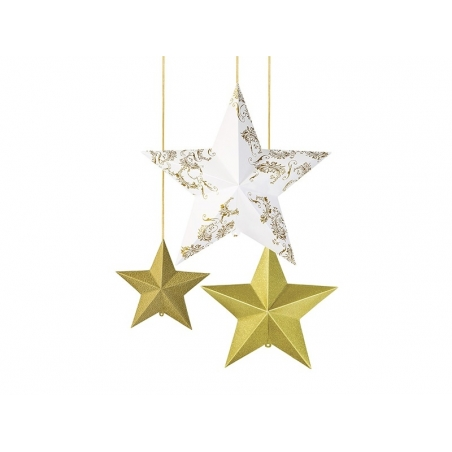 Acheter Suspensions étoiles 3D - doré - 13,90€ en ligne sur La Petite Epicerie - 100% Loisirs créatifs