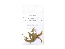Geometric decorations - two colours - white/gold