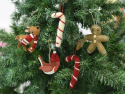 Christmas tree decoration - red candy cane
