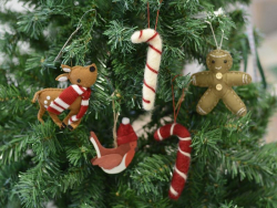 Christmas tree decoration - off-white candy cane
