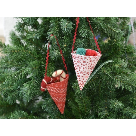 Christmas tree decoration - sweets bag