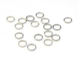 1 petit anneau fermé rond 8 mm - argenté clair  - 1