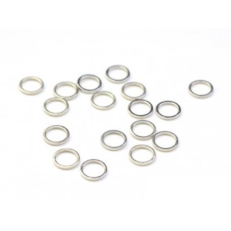 Acheter 1 petit anneau fermé rond 8 mm - argenté clair - 0,19€ en ligne sur La Petite Epicerie - Loisirs créatifs