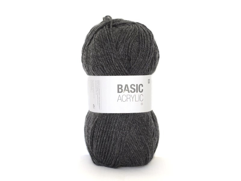 """Wool - """"Basic acrylic"""" - anthracite grey (colour no. 015)"""