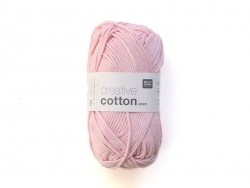 "Wool - ""Creative cotton Aran"" - pink (colour no. 00)"