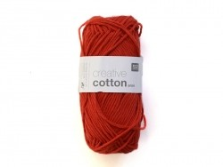"Wool - ""Creative cotton Aran"" - poppy red (colour no. 05)"