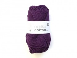 "Wool - ""Creative cotton Aran"" - eggplant purple (colour no. 11)"