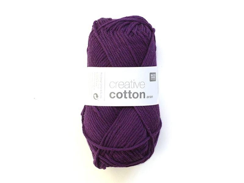 """Acheter Laine """" Creative cotton Aran"""" - violet cardinal 11 - 2,79€ en ligne sur La Petite Epicerie - Loisirs créatifs"""