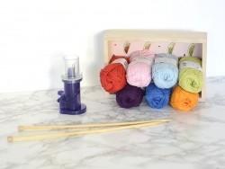 "Laine "" Creative cotton Aran"" - violet cardinal 11"