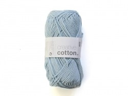 "Wool - ""Creative cotton Aran"" - sky blue (colour no. 32)"