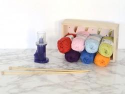"""Laine """" Creative cotton Aran"""" - bleu ciel 32"""