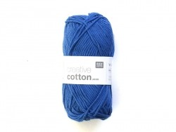 "Wool - ""Creative cotton Aran"" - royal blue (colour no. 39)"