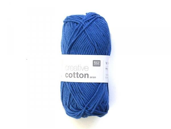 "Laine "" Creative cotton Aran"" - bleu royal 39"