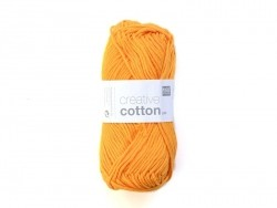 "Wool - ""Creative cotton Aran"" - tangerine (colour no. 76)"