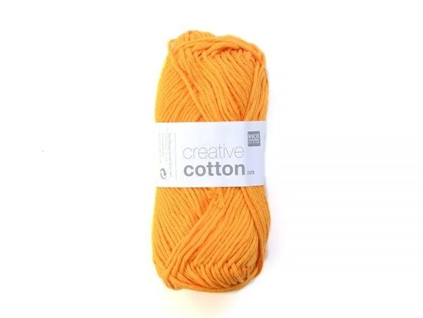 "Laine "" Creative cotton Aran"" - orange mandarine 76"