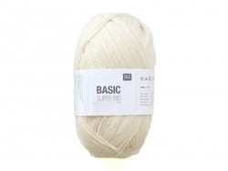 "Wool - ""Basic Super Big"" - ivory (colour no. 001)"