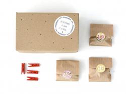 Adventskalenderset - Kraftpapier, gold- und silberfarben