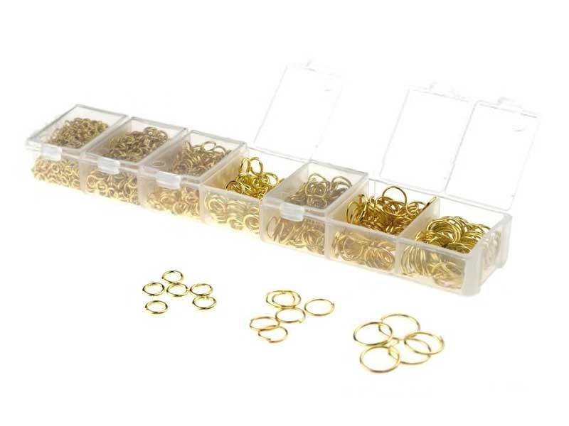 Acheter Boite de 7 tailles d'anneaux - couleur dorée - 8,00€ en ligne sur La Petite Epicerie - Loisirs créatifs