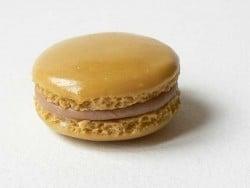 Pendentif macaron - Café  - 1
