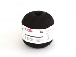 Fil de coton pour métier à tisser - noir