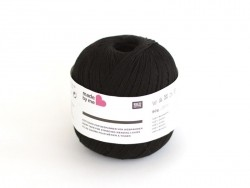 Warp yarn for stringing weaving looms - black