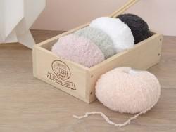 """Wolle - """"Baby Teddy"""" - puderrosa (Farbnr. 021)"""