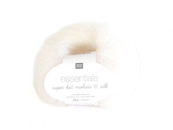 """Acheter Laine """"Essentials Super Kid Mohair Silk"""" - blanc 001 - 6,40€ en ligne sur La Petite Epicerie - Loisirs créatifs"""