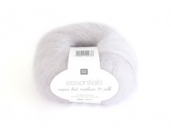 "Laine ""Essentials Super Kid Mohair Silk"" - gris glace 002"