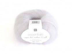 "Wool - ""Essentials Super Kid Mohair Silk"" - light grey (colour no. 002)"