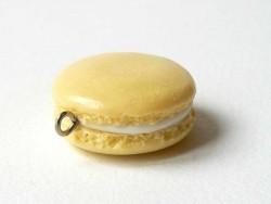 Pendentif macaron - Vanille