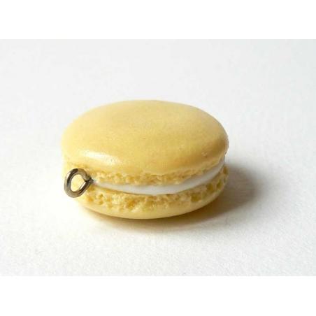 Pendentif macaron - Vanille  - 1