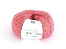 "Wool - ""Essentials Merino Plus"" - coral red (colour no. 005)"