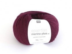"Laine ""Essentials Merino Plus"" - rouge bordeaux 007"