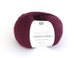 "Wool - ""Essentials Merino Plus"" - wine red (colour no. 007)"