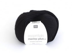 "Wool - ""Essentials Merino Plus"" - black (colour no. 014)"