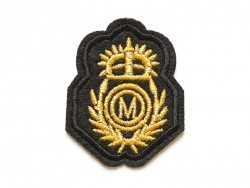 Iron-on patch - embroidered British crest