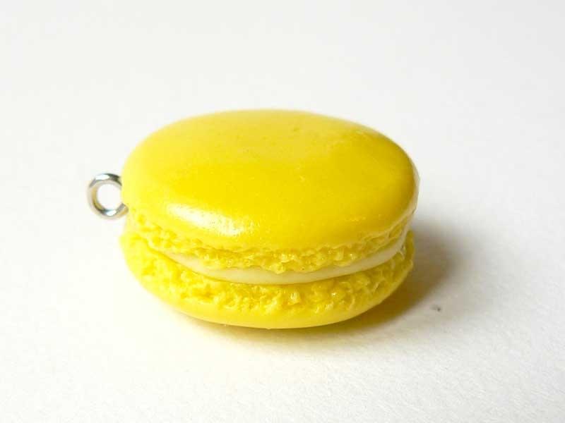 Pendentif macaron - Citron