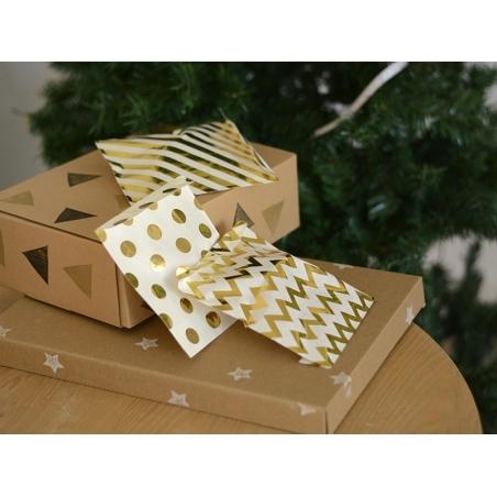 Acheter 25 sachets cadeaux - pois dorés - 5,99€ en ligne sur La Petite Epicerie - 100% Loisirs créatifs