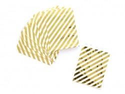 25 sachets cadeaux - rayures dorés  - 1
