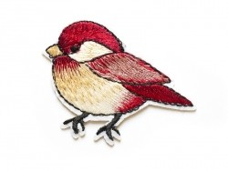 Iron-on patch - chubby sparrow