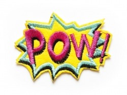 Iron-on patch - word/pow