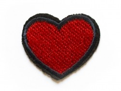 Iron-on patch - small embroidered heart