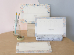 Weekly planner - patchwork