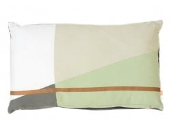 Cushion - copper-coloured stripe