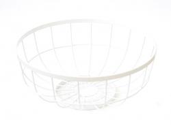 Metal fruit basket - white