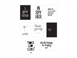 Pack 8 feuilles pour Lightbox poster A4 - inspire - accessoires lightbox A little lovely Company - 1
