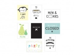 Pack of 8 A4 Lightbox poster sheets - kitchen - Lightbox accessories