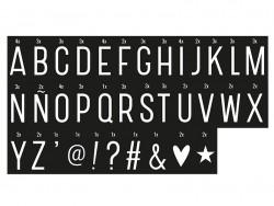 Acheter Accessoires lightbox - alphabet blanc sur fond noir - 2,99€ en ligne sur La Petite Epicerie - 100% Loisirs créatifs